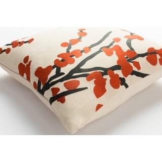 Decorative 18-inch Blach Throw Pillow Shell