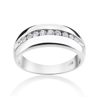 Andrew Charles 14k White Gold Men's 2/5ct TDW Diamond Ring (H-I, SI1-SI2)