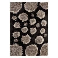 Handmade M.A.Trading Indo Pebbles Grey/ Black Rug (7'10 x 9'10) (India)