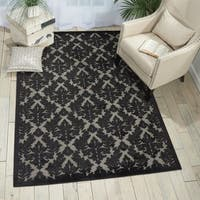Nourison Ultima Grey/Black Rug