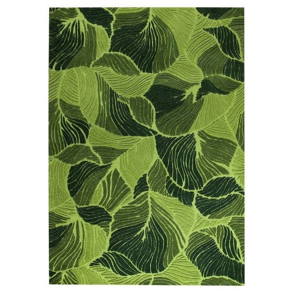 Handmade M.A.Trading Indo Oasis Green Rug (7'10 x 9'10) (India)