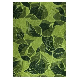 Hand-Tufted Indo Oasis Green Rug (7'10 x 9'10)