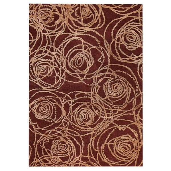 M.A.Trading Hand-Tufted Indo Rosa Red Rug (7'10 x 9'10)