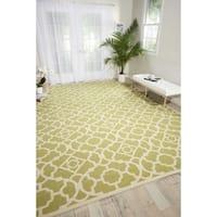 Waverly Sun N' Shade Lovely Lattice Garden Indoor/ Outdoor Rug by Nourison - 5'3 x 7'5