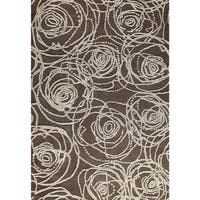 M.A.Trading Hand-Tufted Indo Rosa Grey Rug (7'10 x 9'10)