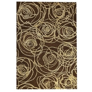 M.A.Trading Hand-Tufted Indo Rosa Brown Rug (7'10 x 9'10)