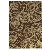 Handmade M.A.Trading Indo Rosa Brown Rug (7'10 x 9'10) (India)