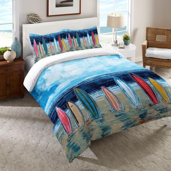 Laural Home Summer Surfboards Comforter