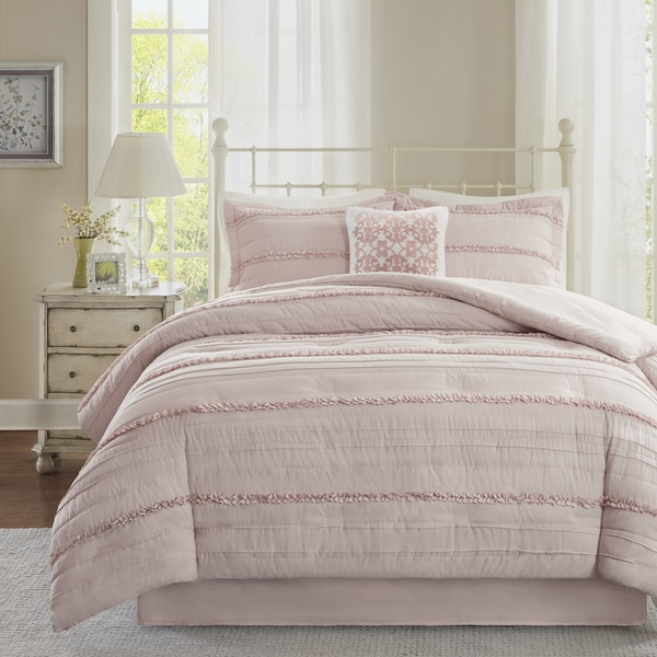 grey pink floral sets comforter elegant cotton and queen size
