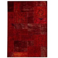 Hand-Knotted Indo Renaissance Red Rug (5'2 x 7'6)