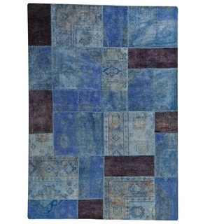 M.A.Trading Hand-Knotted Indo Renaissance Light Blue Rug (5'2 x 7'6)