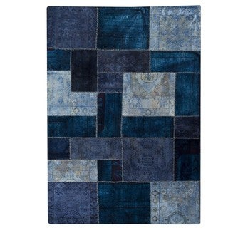 M.A.Trading Hand-knotted Indo Renaissance Blue Rug (5'2 x 7'6)