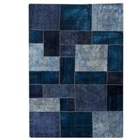 Hand-knotted Indo Renaissance Blue Rug (5'2 x 7'6)