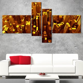 DesignArt 'City at Night' Contemporary Canvas Art