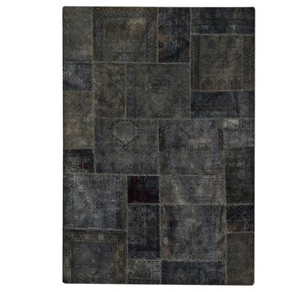 M.A.Trading Hand-Knotted Indo Renaissance Dark Grey Rug (6'6 x 9'6)