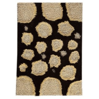 M.A.Trading Hand-Tufted Indo Pebbles White/ Brown Rug (5'2 x 7'6)