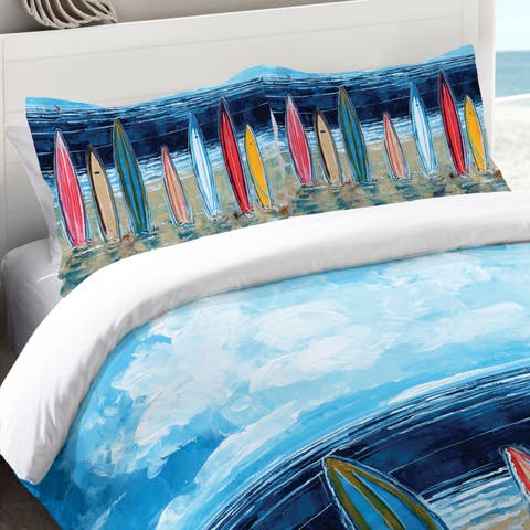 Laural Home Summer Surfboards Standard Pillow Sham