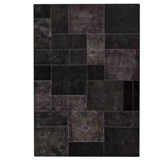 M.A.Trading Hand-knotted Indo Renaissance Black Rug (5'2 x 7'6)