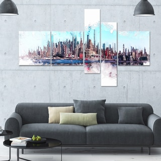 DesignArt 'In the Bay' Multi-panel Cityscape Wall Art
