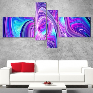 DesignArt 'Green and Blue Shine' Modern Wall Art