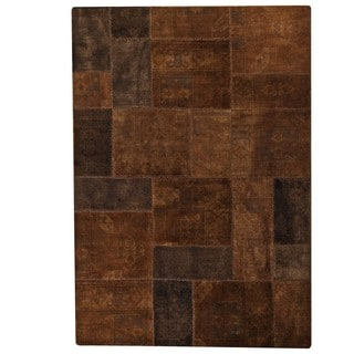 M.A.Trading Hand-knotted Indo Renaissance Brown Rug (5'2 x 7'6)