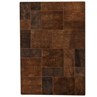 M.A.Trading Hand-Knotted Indo Renaissance Brown Rug (6'6 x 9'6)