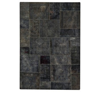 M.A.Trading Hand-knotted Indo Renaissance Dark Grey Rug (5'2 x 7'6)