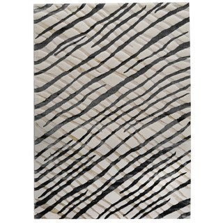 M.A. Trading Machine-made Turkish Fantasma White/ Grey Rug (5'2 x 7'6)