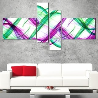 DesignArt 'Green and Purple Tango' Modern Wall Art