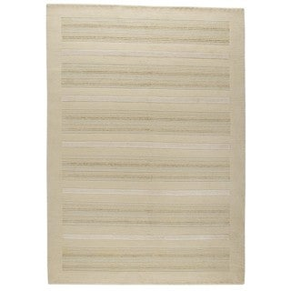 M.A.Trading Hand-knotted Indo Boston White Rug (5'6 x 7'10)