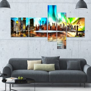 DesignArt 'Colorful New York' Multi-panel Cityscape Canvas Art