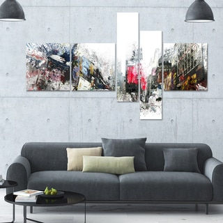 DesignArt 'City Never Sleeps' Multi-panel Cityscape Canvas Art