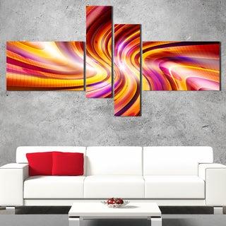DesignArt 'Enchanted Purple Stars' Modern Wall Art