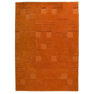 Hand-tufted Indo Miami Orange Rug (3' x 5'4)