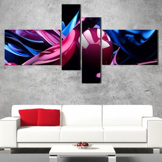 DesignArt 'Purple Turbine in the Night' Abstract Wall Art