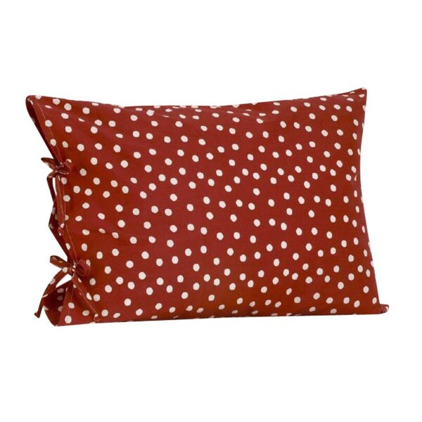 Houndstooth Plain Pillowcase with Ties