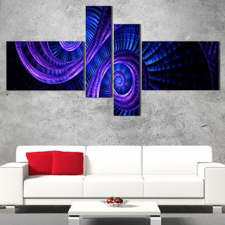 DesignArt 'Royal Purple & Blue' Contemporary Wall Art