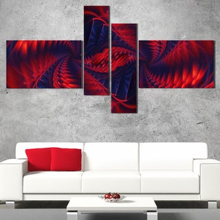 DesignArt 'Electric Fire' Large Abstract Wall Art