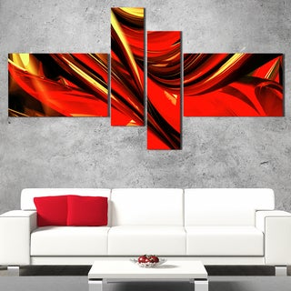 DesignArt 'Red Implosion' Large Abstract Wall Art