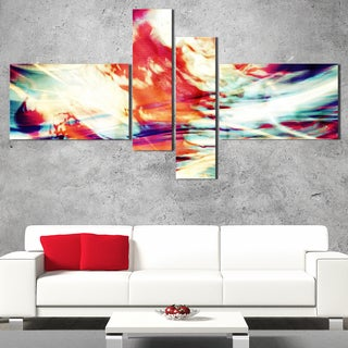 DesignArt 'Red Lava Ribbons' Large Abstract Wall Art