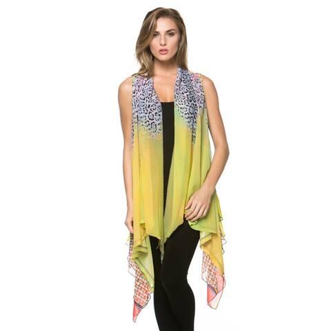 High Secret Women's Multicolor Vest Cardigan