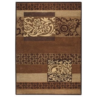 Hand-Tufted Indo Firenze Brown Rug (5'x8')