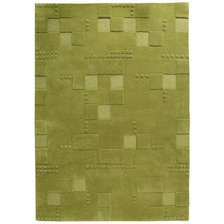 Hand-Tufted Indo Miami Green Rug (4'6 x 6'6)