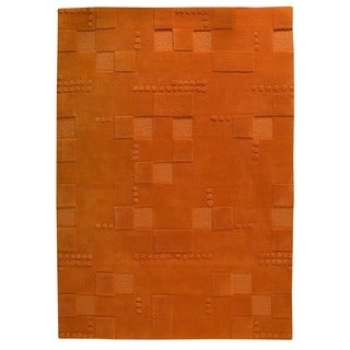 M.A. Trading Hand-tufted Indo Miami Orange Rug (4'6 x 6'6)