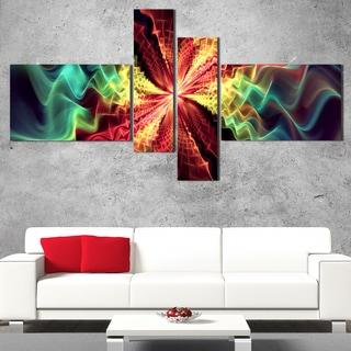 DesignArt 'Hypnotize Multi' Large Abstract Wall Art