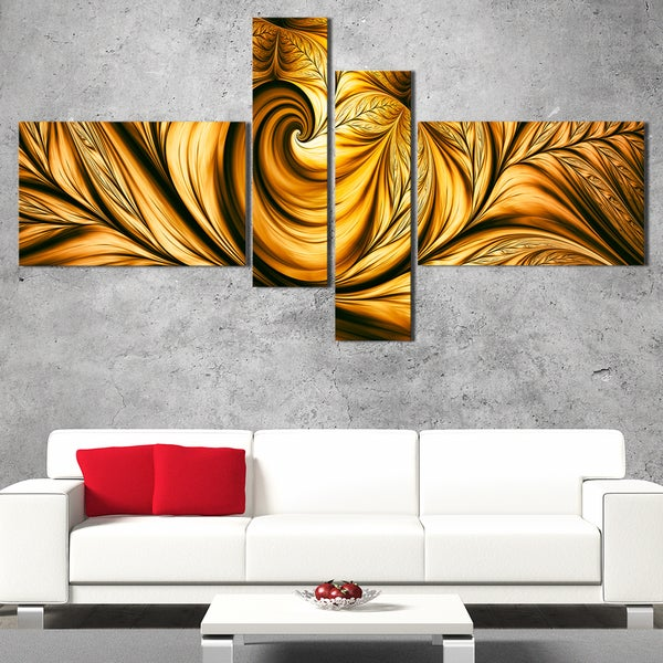 DesignArt 'Golden Dream' Large Abstract Wall Art