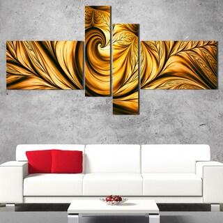DesignArt 'Golden Dream' Large Abstract Wall Art