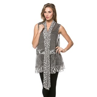 High Secret Women's Lace Vest Cardigan