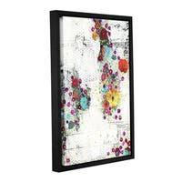 Sarah Ogren's 'Floral I' Gallery Wrapped Floater-framed Canvas