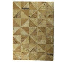 M.A.Trading Hand-Tufted Indo Tile Beige Rug (5'2 x 7'6)